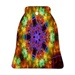 Kaleidoscope Pattern Ornament Ornament (bell) by Celenk