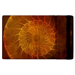 Orange Warm Hues Fractal Chaos Apple Ipad 3/4 Flip Case by Celenk