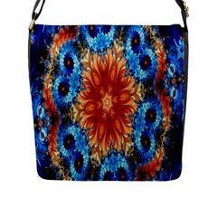 Alchemy Kaleidoscope Pattern Flap Messenger Bag (l)  by Celenk