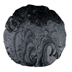 Abstract Art Decoration Design Large 18  Premium Flano Round Cushions by Celenk