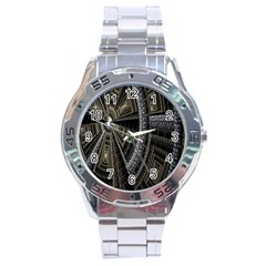 Fractal Circle Circular Geometry Stainless Steel Analogue Watch by Celenk