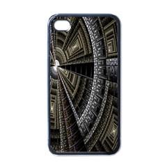 Fractal Circle Circular Geometry Apple Iphone 4 Case (black) by Celenk