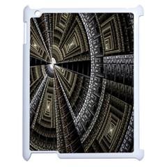 Fractal Circle Circular Geometry Apple Ipad 2 Case (white) by Celenk