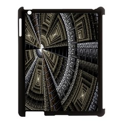 Fractal Circle Circular Geometry Apple Ipad 3/4 Case (black) by Celenk