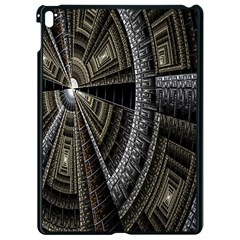 Fractal Circle Circular Geometry Apple Ipad Pro 9 7   Black Seamless Case by Celenk