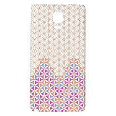 Flower Of Life Pattern 1 Galaxy Note 4 Back Case by Cveti