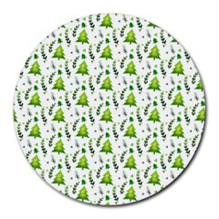 Watercolor Christmas Tree Round Mousepads by patternstudio