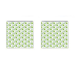 Watercolor Christmas Tree Cufflinks (square) by patternstudio