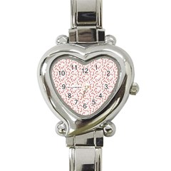 Candy Cane Heart Italian Charm Watch by patternstudio
