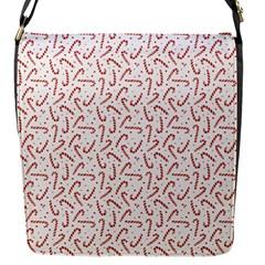 Candy Cane Flap Messenger Bag (s) by patternstudio