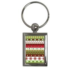 Christmas Spirit Pattern Key Chains (rectangle)  by patternstudio