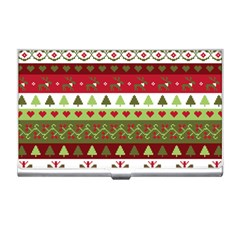 Christmas Spirit Pattern Business Card Holders by patternstudio