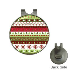 Christmas Spirit Pattern Hat Clips With Golf Markers by patternstudio