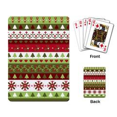 Christmas Spirit Pattern Playing Card by patternstudio