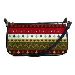Christmas Spirit Pattern Shoulder Clutch Bags by patternstudio