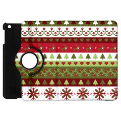 Christmas Spirit Pattern Apple Ipad Mini Flip 360 Case by patternstudio