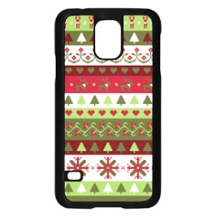 Christmas Spirit Pattern Samsung Galaxy S5 Case (black) by patternstudio