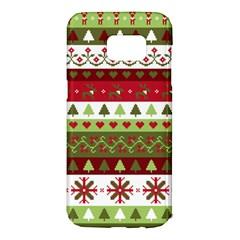 Christmas Spirit Pattern Samsung Galaxy S7 Edge Hardshell Case by patternstudio