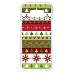 Christmas Spirit Pattern Samsung Galaxy S8 Plus White Seamless Case by patternstudio