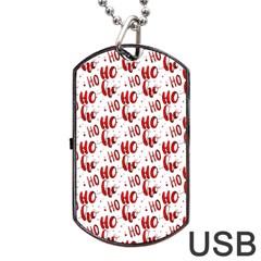 Ho Ho Ho Santaclaus Christmas Cheer Dog Tag Usb Flash (two Sides) by patternstudio