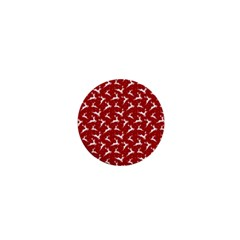 Red Reindeers 1  Mini Buttons by patternstudio