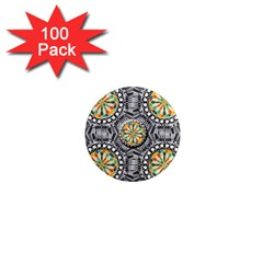 Beveled Geometric Pattern 1  Mini Magnets (100 Pack)  by linceazul