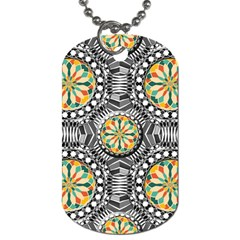 Beveled Geometric Pattern Dog Tag (one Side) by linceazul