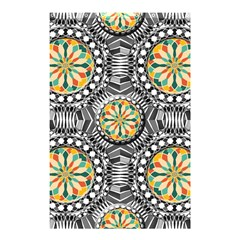 Beveled Geometric Pattern Shower Curtain 48  X 72  (small)  by linceazul
