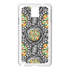 Beveled Geometric Pattern Samsung Galaxy Note 3 N9005 Case (white) by linceazul