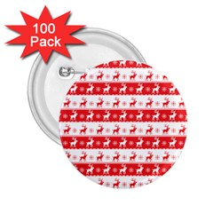 Knitted Red White Reindeers 2 25  Buttons (100 Pack)  by patternstudio
