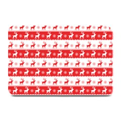 Knitted Red White Reindeers Plate Mats by patternstudio