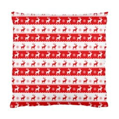 Knitted Red White Reindeers Standard Cushion Case (one Side) by patternstudio