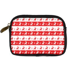 Knitted Red White Reindeers Digital Camera Cases by patternstudio