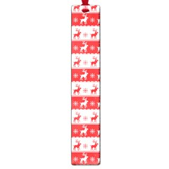 Knitted Red White Reindeers Large Book Marks by patternstudio