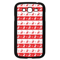 Knitted Red White Reindeers Samsung Galaxy Grand Duos I9082 Case (black) by patternstudio