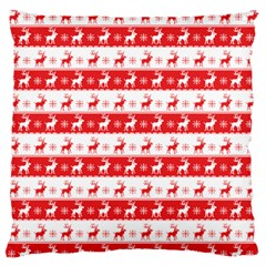 Knitted Red White Reindeers Standard Flano Cushion Case (two Sides) by patternstudio
