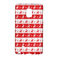 Knitted Red White Reindeers Galaxy Note Edge by patternstudio