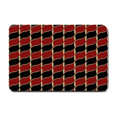 Leaves Red Black Small Doormat  by Cveti