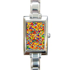 Homouflage Gay Stealth Camouflage Rectangle Italian Charm Watch by PodArtist