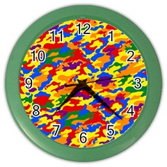 Homouflage Gay Stealth Camouflage Color Wall Clocks by PodArtist