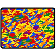 Homouflage Gay Stealth Camouflage Double Sided Fleece Blanket (large)  by PodArtist