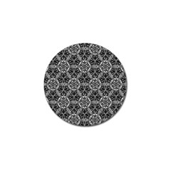 Crystals Pattern Black White Golf Ball Marker (4 Pack) by Cveti
