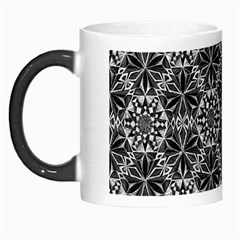 Crystals Pattern Black White Morph Mugs by Cveti