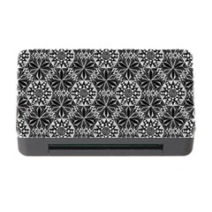 Crystals Pattern Black White Memory Card Reader With Cf by Cveti