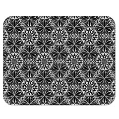 Crystals Pattern Black White Double Sided Flano Blanket (medium)  by Cveti