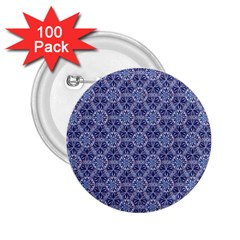 Crystals Pattern Blue 2 25  Buttons (100 Pack)  by Cveti