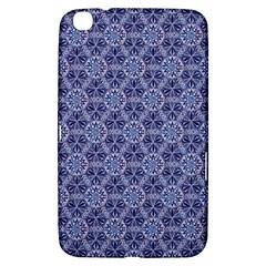 Crystals Pattern Blue Samsung Galaxy Tab 3 (8 ) T3100 Hardshell Case  by Cveti