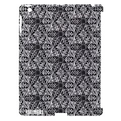 Kaleidoscope Black White Pattern Apple Ipad 3/4 Hardshell Case (compatible With Smart Cover) by Cveti