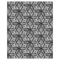 Kaleidoscope Black White Pattern Drawstring Bag (small) by Cveti