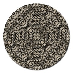 Animal Print Camo Pattern Magnet 5  (round) by dflcprints